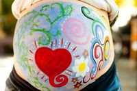 so fun! paint my belly