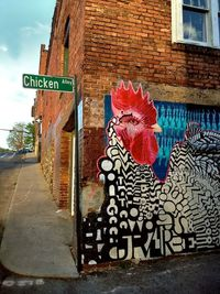 nice - chicken waiting to cross the road mural, corner of Chicken Alley....
