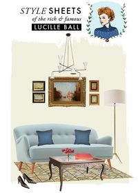 The House That Lars Built.: Style Sheets: Lucille Ball//love the illustration of Lucille