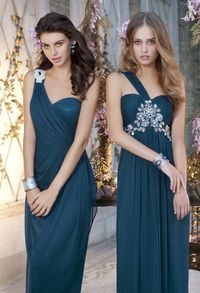 Bridesmaid Dresses - Mesh Beaded One Shoulder Dress from Camille La Vie and Group USA--wicked pretty.