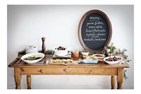 #camillestyles #thanksgiving fall buffet table