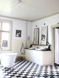 country bathroom, double sink