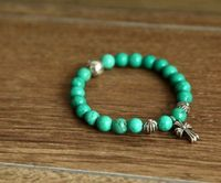 Chrome Hearts Cross Pendant Turquoise Beads Bracelet for 2013