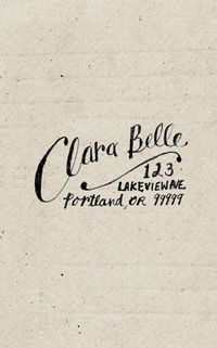 custom return address label - hand drawn personalized name & address - clara belle style