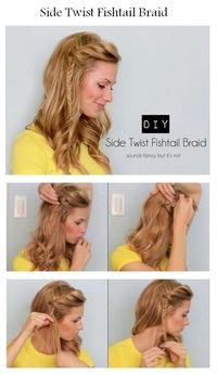 Side Twist Fishtail Braid