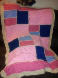 Finished Patchwork Crochet Baby Blanket: Part 2
