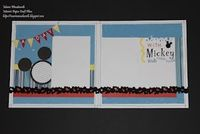 A Day with Mickey - Disney Layout - CTMH - by http://mariawoodworth.blogspot.com