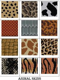 Animal skin charts ... whimsical and humane!