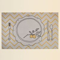 "Lemon Placemat (free printable) Size: 11"" x 17"""