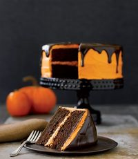 How to make Chocolate Pumpkin Cake!  How to make the Orange Creamcheese Frosting! How to make the Chocolate Glaze!