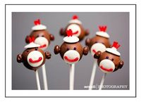 Sock Monkey Pops