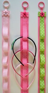 Ribbon Headband Holder this could also be a fantastic circular knitting needle holder