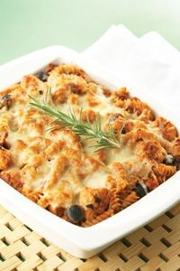 Baked Chicken and Rosemary Pasta