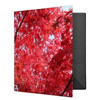 Bright Red Japanese Maple Tree 3 Ring Binder
