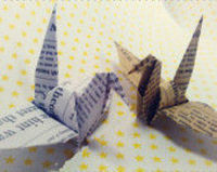2 Colors Paper Cranes, 80pcs/set Newspaper origame Crane,Customized for Weddings Origami, Christmas Ornament home decoration paper