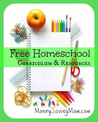 HUGE list of free homeschool curriculum, printables, resources, & more!