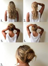 this will be the messy bun that accompanies my bandanna