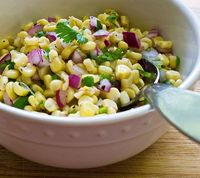 From Cooking Weekends, corn salsa.