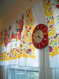 Vintage tablecloth Curtains