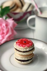 "How to ""paint"" macarons with food coloring. Vanilla Bean #macaron #recipe"