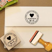 Heart Custom Address Stamp for Save the Dates & by Designkandy, $28.00
