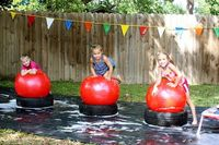 Wipeout obstacle course for the kids