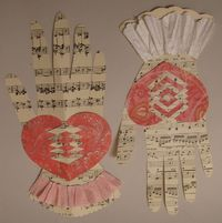 Tutorial for paper woven heart and hand