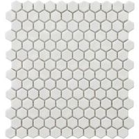 Merola Tile Metro Hex Glossy White 12 in. x 10-7/8 in. Porcelain Mosaic Floor and Wall Tile #DIHworkshop