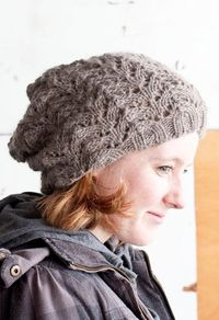 Fishtail Lace Slouch Hat in Cascade Eco Highland Eco
