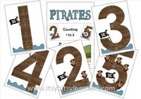 Pirates Counting 1 to 5 [Downloadable] - It's Free! : Educational Creations, Preschool, PreK, Kindergarten & First Grade