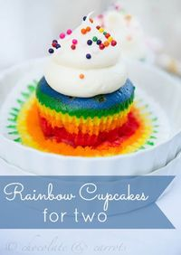 Rainbow Cupcakes--- normal cupcake, with food coloring twist!!!!!
