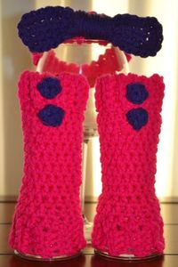 Newborn Headband and Legwarmers Set