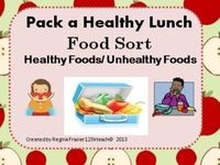 Promote healthy eating habits as you have students sort healthy and unhealthy foods. Students will draw and write about what they would pack in a healthy lunch.