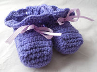 Baby Booties Purple 3 to 6 Months by ShelleysCrochetOle http://etsy.me/10PqO9I via @Etsy