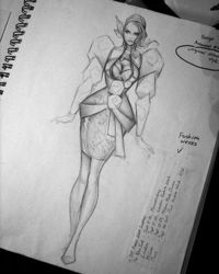 COAFDS (Confessions of a Former Design Student): Fashion Croquis 101 9 Heads