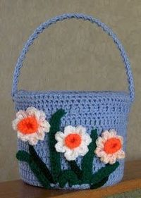 CROCHETED EASTER BASKET
