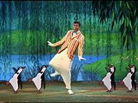 Bert and the penguins in Mary Poppins