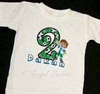 DIEGO the EXPLORER Personalized Boys Soccer Birthday Top