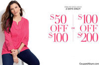 Catherines Online Savings: $50 Off or $100 Off!