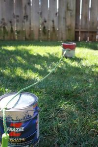 Paint can and jump rope hurdles and other ideas for a DIY obstacle course