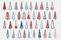 Xmas trees pattern | Life is Beautiful