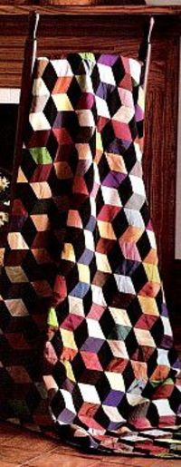 10 Steps to Make a Tumbling Block Quilt Pattern