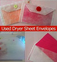 how to make envelopes out of dryer sheets
