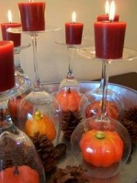 fall decor--thanksgiving buffet decorations