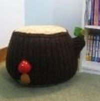 Knit Tree Stump Ottoman Pattern