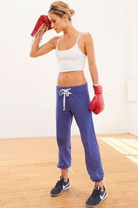 SOLOW - Contrast Lace-Up Old School Boxing Pant