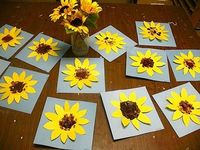 May: Sunflowers with fingerprint center