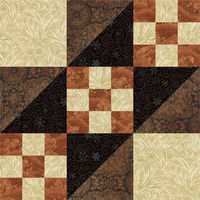 9-inch Road to California Quilt Block Pattern