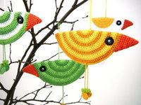 Easter birds Crochet ornaments by craftasta