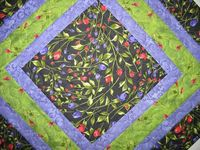 Valentine Table Topper rose buds and fuchsias by PicketFenceFabric, $21.95